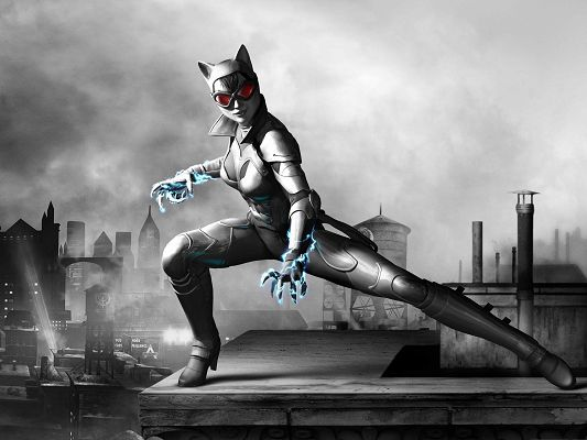 click to free download the wallpaper--Best Games Picture, Catwomon from Batman Arkham City