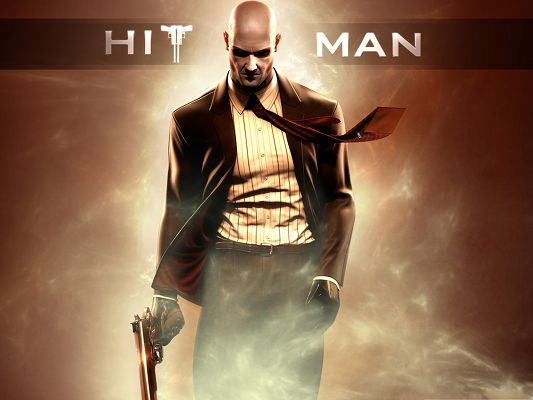 click to free download the wallpaper--Best Games Picture, Hitman Absolution, Walk in the Wind and Smoke