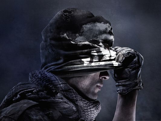 click to free download the wallpaper--Best Games Wallpaper, Call of Duty Ghosts, Dangerous Cool Guy