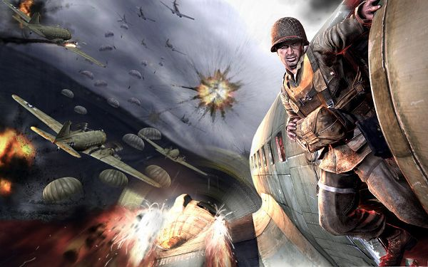 click to free download the wallpaper--Best Games Wallpaper, Medal Of Honor Airborne, Firing Planes