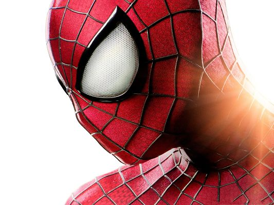 click to free download the wallpaper--Best Movies Poster, Amazing Spider Man Under Sunlight, Typical Suit