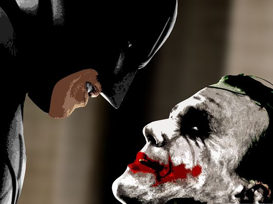 Best Movies Poster, Batman and the Joker, Hating Each Other