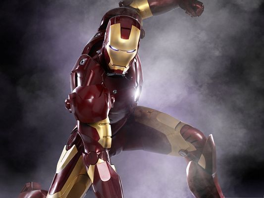 click to free download the wallpaper--Best Movies Poster, Iron Man 3, Heavy Smoke Around Him