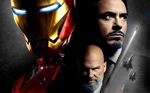click to free download the wallpaper--Best Movies Poster, Iron Man and Obadiah Stane, Justice and Evil