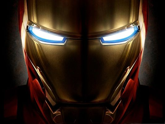 Best Movies Wallpaper, Iron Man Helmet, Lighted Up Eyes