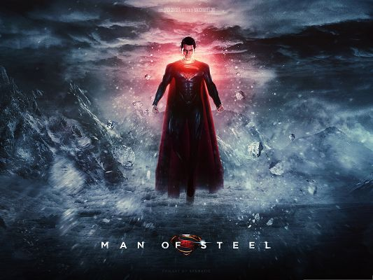 click to free download the wallpaper--Best Movies Wallpaper, Man Of Steel, the Strong and Powerful Superman