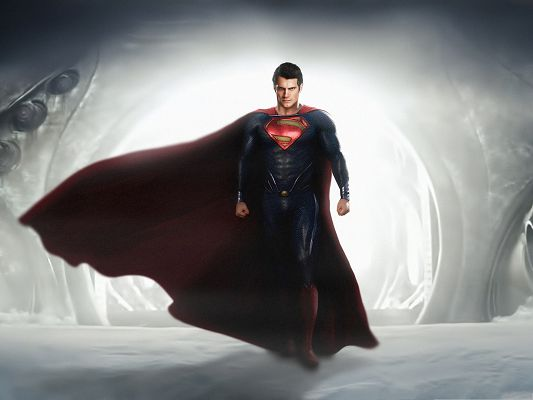 Best Movies Wallpaper, Man of Steel, Superman in His Typical Suit, Handsome and Nice Guy