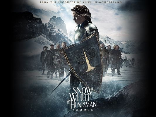 click to free download the wallpaper--Best Movies Wallpaper, Snow White And The HuntsMan, Beautiful Princess Forced to Fight