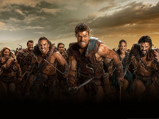 click to free download the wallpaper--Best Movies Wallpaper, Spartacus War of the Damned, Making Determined Effort