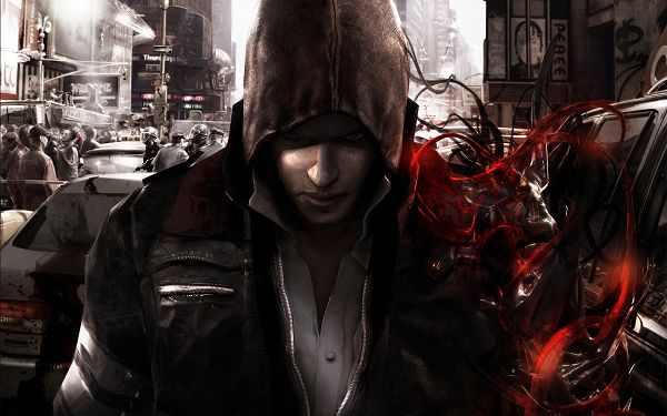click to free download the wallpaper--Big Boy in Thick Jacket and Hat, World Has Gone into a Mess, the Whole Scene is Quite Depressing, Go and Save the World - HD Games Wallpaper