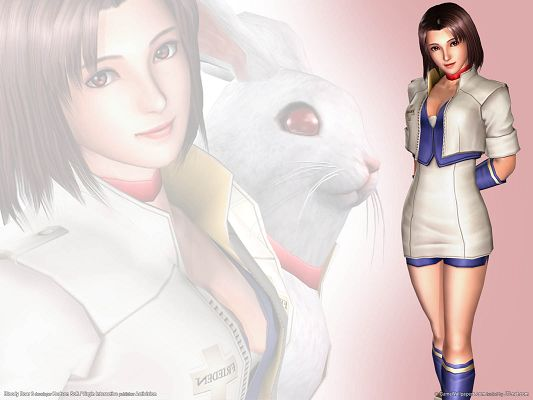 Bloody Roar 3 HD Post in Pixel of 1600x1200, Beautiful Girl in Sexy Suit, Smiling Together with the Rabbit, She is Good-Looking and Fit - TV & Movies Post