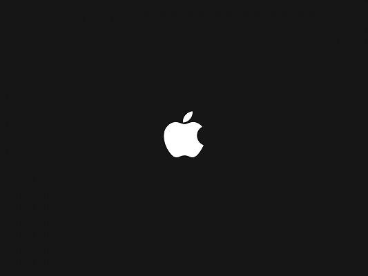 click to free download the wallpaper--Brandy Logo Photos, White Apple Logo on Black Background, is an Impressive Item