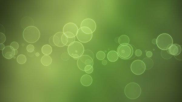 Bright Bubbles on Light Green Background, Style is Thus Clean and Simple, Looking Good on Any Computer - HD Creative Wallpaper