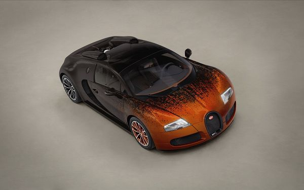 Brown Buggati Veyron on Gray Wide Road, God, You Are Looking Good, Lights Are Still on, Stay Away from It - HD Cars Wallpaper