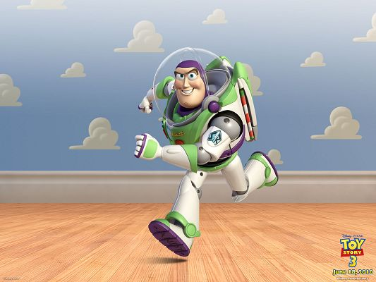 Buzz Lightyear in Toy Story 3 Post in 1600x1200 Pixel, the Smiling and Running Guy, in Cartoon and 3D, He is Looking Good - TV & Movies Post