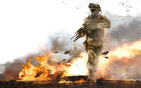 click to free download the wallpaper--COD Modern Warfare 2 Game Post Available in 1920x1200 Pixel, a Man Armed to Teeth, He Should Instantly Run from Here - TV & Movies Post