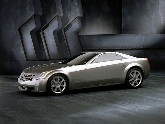 Cadillac 3 Post in Pixel of 1600x1200, a Luxurious Car in Dark Room, Despite the Surrounding Scene, It Looks Good and Attractive - HD Cars Wallpaper
