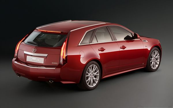 click to free download the wallpaper--Cadillac Car as Wallpaper, Red Super Car on Dark Background, Incredible Look