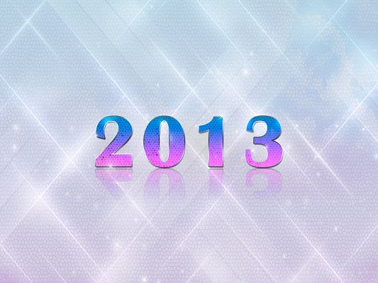 click to free download the wallpaper--Calendar Wallpaper, 2013 in Gradient, Shinning Background, Great and Fit