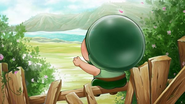 Cannon Artillery in His Typical Hat, In Face of Great Natural Scenery, Are You Going to Compose a Poem? - HD Cartoon Wallpaper