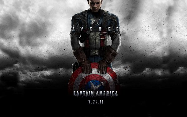 click to free download the wallpaper--Captain America First Avenger Post in 1680x1050 Pixel, Guy with Shield and Protection, is He Paying Respect to His Weapon? - TV & Movies Post