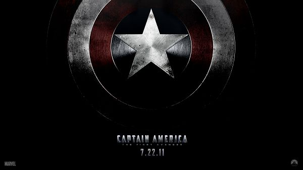 Captain America Shield Post in 1920x1080 Pixel, a Black and Red Star, Shall Look Good on Various Devices - TV & Movies Post