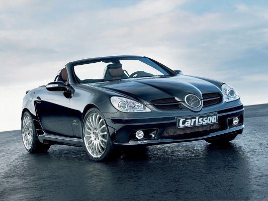 click to free download the wallpaper--Car Images as Wallpaper, Carlsson CK35 Based On Mercedes Benz SLK 350, Under the Blue Sky