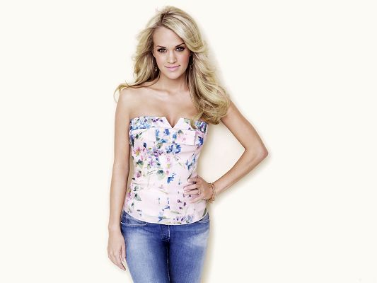 click to free download the wallpaper--Carrie Underwood HD Post in Pixel of 1600x1200, Girl Smiling and Hair Dancing, She is Just Hard to Believe - TV & Movies Post