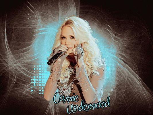 Carrie Underwood in Microphone, the Musical Fairy, Great Voice