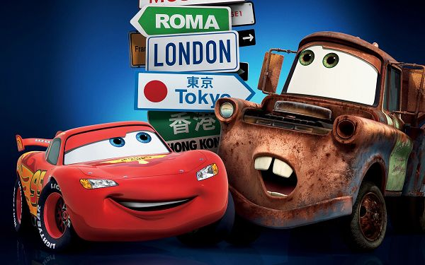 click to free download the wallpaper--Cars 2 London Tokyo Post in 1920x1200 Pixel, Shall be By Your Side No Matter Where You Go, This is Great Friendship - TV & Movies Post