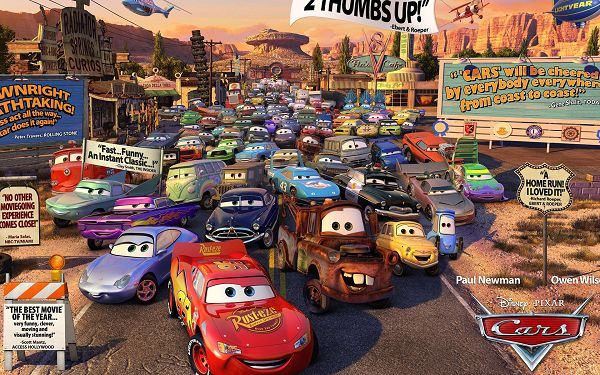 Cars Movie Review in 1920x1200 Pixel, Each Car in a Different Facial Expression, Car Jam is Indeed Annoying - TV & Movies Post