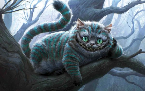 Cheshire Cat in 2560x1600 Pixel, a Fat and Funny Cat, All Teenth Fully Shown, He Can Make Any Viewer Burst into Laughter - TV & Movies Wallpaper