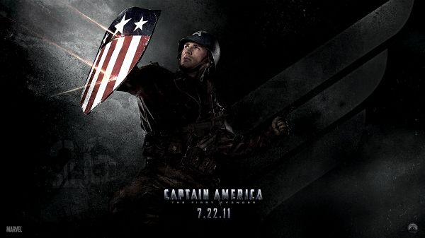 click to free download the wallpaper--Chris Evans in Captain America 2011 in 1920x1080 Pixel, with Shield, He Shall Work Well with Protection and Safety - TV & Movies Post