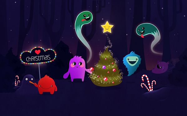 Christmas HD Post in Pixel of 1680x1050, All Cute Cartoon Characters in Smile, Holiday Atmosphere is Well Spread - TV & Movies Post