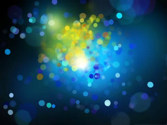 click to free download the wallpaper--Computer Background Wallpaper - Colorful Drops on Blue Background