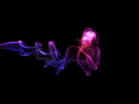 click to free download the wallpaper--Computer Wallpapers HD - Colorful Smoke on Dark Background