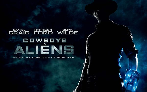 click to free download the wallpaper--Cowboys and Aliens Movie Post in 2560x1600 Pixel, a Dark and Depressing Scene, Shall Improve the Overall Outlook of Your Device - TV & Movies Post