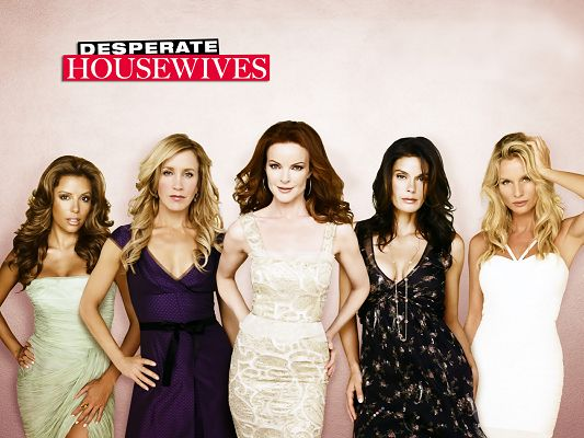 click to free download the wallpaper--Desperate HouseWives TV Series HD in 1600x1200 Pixel, Five Ladies All Showing up, They Have Left a Deep Impression - TV & Movies Post