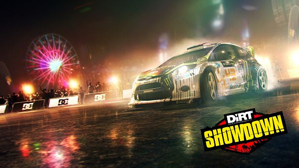 Dirt Showdown Gymkhana HD Post in 3200x1800 Pixel, the Car Will be Running Out Like an Arrow, Audiences, Cheer for It - HD Cars Wallpaper