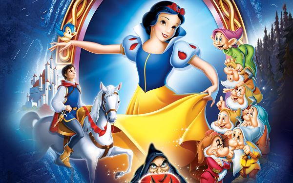 Disney Enchanted Wallpaper in 2880x1800 Pixel, Snow White, Seven Dwarfs and Prince White, Dance, Sing and Have Fun - TV & Movies Wallpaper