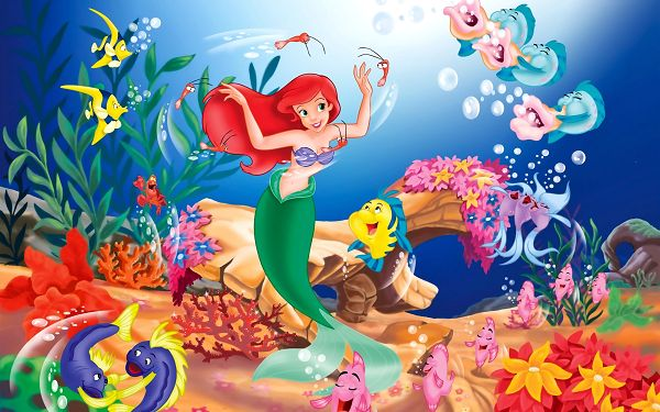 Disney The Little Mermaid in 2560x1600 Pixel, Colorful Fishes Singing and Dancing All Around, What a Lovely Princess! - TV & Movies Wallpaper
