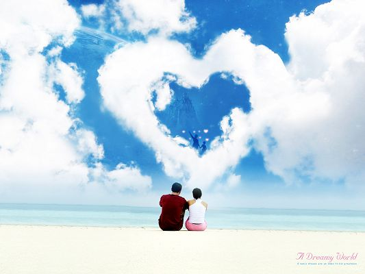 Dreamy Love World Post in Pixel of 1600x1200, Lovers Do Things and Go to Places Together, Glad and Appreciate that It is You, a Great and Lovely Scene - HD Natural Scenery Wallpaper