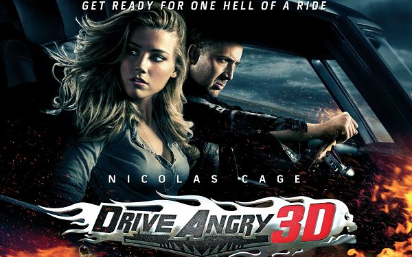 click to free download the wallpaper--Drive Angry 3D Movie Post in 1920x1200 Pixel, Nicolas Cage on His Car, Girl, Make Sure You Are with Your Hero - TV & Movies Post