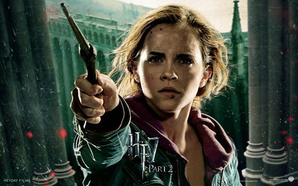 Emma Watson in Harry Potter Post in 1920x1200 Pixel, Girl in Gun, Lightning and Sparkling Items Flying Over, Offers a Great Look - TV & Movies Post