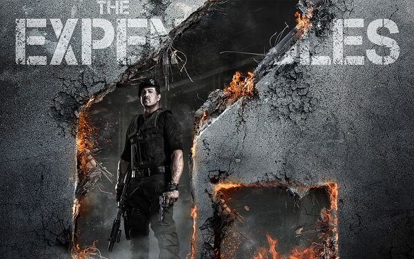 click to free download the wallpaper--Expendables 2 Sylvester Stallone in 1920x1200 Pixel, Man is Armed to Teeth, in a Place Full of Fire, He is Hard to Beat - TV & Movies Wallpaper