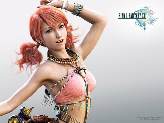 Final Fantasy XIII Game 4 Post in 1600x1200 Pixel, Girl in Sexy Suit and Smiling, She Makes the Viewers Comfortable and At Ease - TV & Movies Post