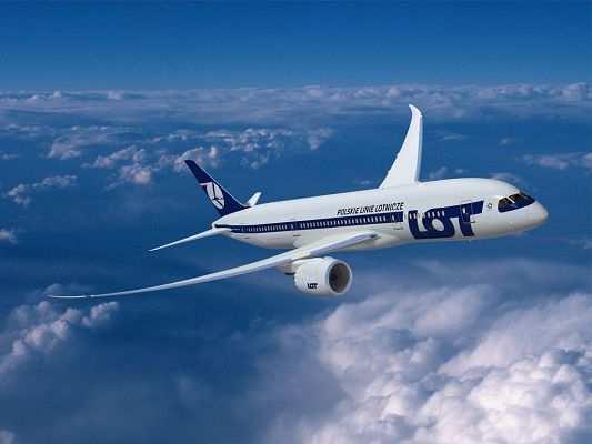 Flying High in the Incredibly Blue Sky, Can Take Clouds Away, It is Such a Wonderful Scene - Boeing 787 Dreamliner Plane Wallpaper