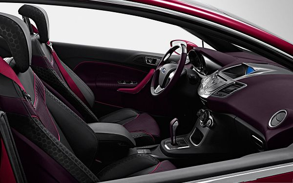click to free download the wallpaper--Ford Car as Background, Purple Car Interior, Decent and Impressive Feel