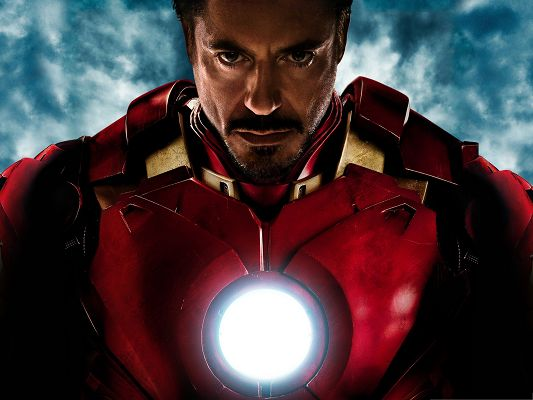 click to free download the wallpaper--Free 3D Film Poster, Tony Stark in Iron Man 2, Pure and Kind Heart