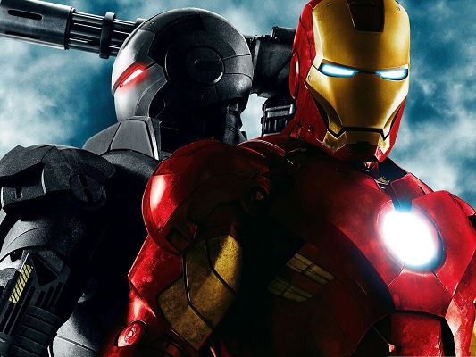 click to free download the wallpaper--Free 3D Movie, Iron Man with Bright Heart and Eyes, the Unbeatable Guy
